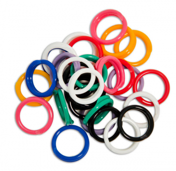 "Spiral Round Plastic Fasteners 30 Med-Large (11/16"")"