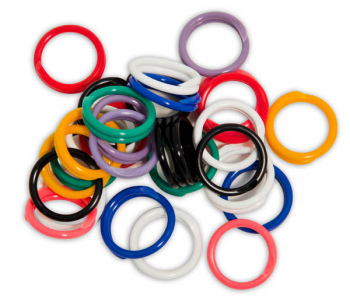 "Spiral Round Plastic Fasteners 30 Large (7/8"")"