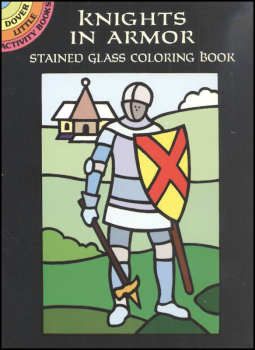 Knights in Armor Little Stained Glass Coloring Book