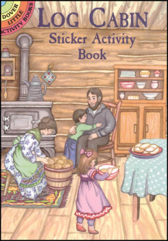 Log Cabin Small Format Sticker Activity Book
