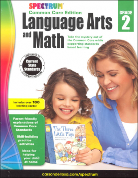 Spectrum Common Core Language Arts and Math 2 with Flashcards