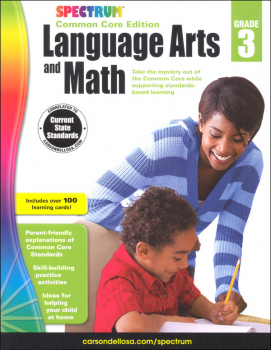 Spectrum Common Core Language Arts and Math 3 with Flashcards