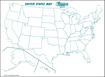 "U.S. Map Double Sided Dry Erase Board 11""x16"""