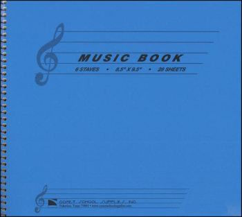 Music Book Wirebound with 6 staves per page