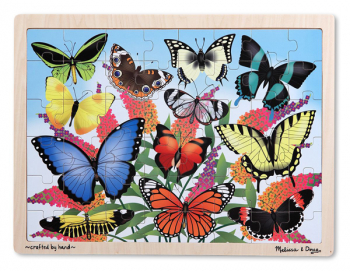 Butterfly Garden Wooden Jigsaw Puzzle (48 pieces)
