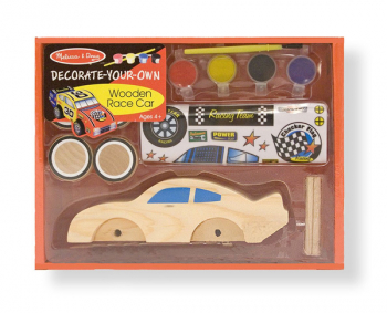 Decorate-Your-Own Wooden Race Car - Large (Melissa & Doug item #2370)