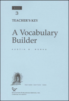 Vocabulary Builder Book 3 Teacher's Key
