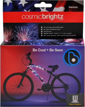 Cosmic Brightz Bike Wrap - Patriotic (Red/White/Blue)