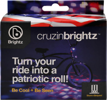 Cruzin Brightz Bike Light - Patriotic (Red/White/Blue)