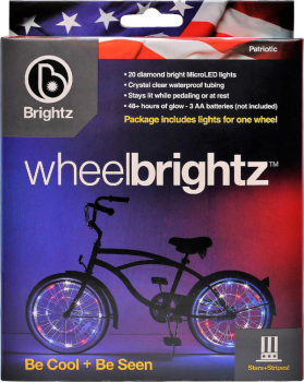 Wheel Brightz Bike Tire Lights - Patriotic (Red/White/Blue)