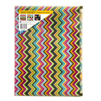 Bold Basics Zip 'N go Reusable Envelopes, Assorted 3 pack