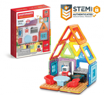 Magformers - Minibot's Kitchen (33 Piece Set)