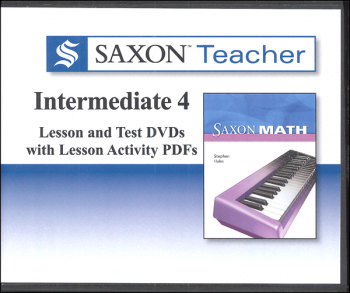 Saxon Teacher for Intermediate Gr. 4 DVDs