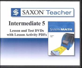 Saxon Teacher for Intermediate Gr. 5 DVDs