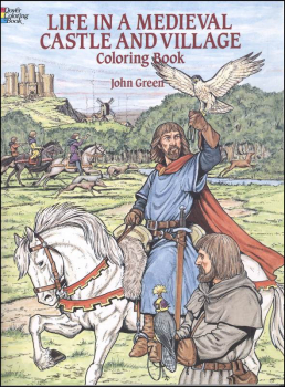 Life in a Medieval Castle & Village Coloring