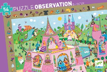 Princess Observation Puzzle (54 pieces)