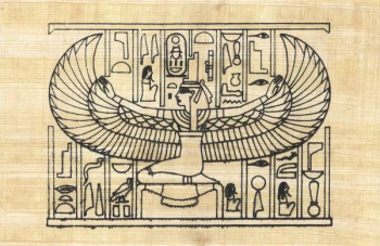 Winged Isis (Paint Your Own Papyrus)