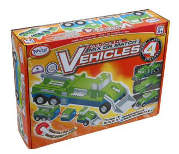 Magnetic Mix or Match Vehicles Set 4