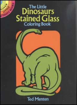 Dinosaurs Little Stained Glass Coloring Book
