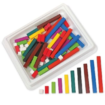 Cuisenaire Rods Introductory Set - 74 Wooden Rods