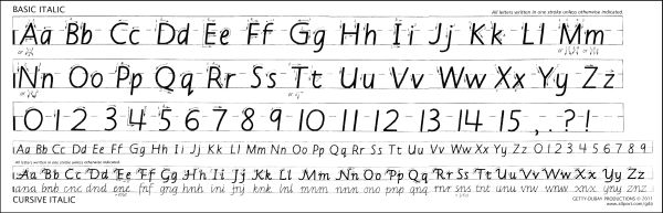 Laminated Basic & Cursive Strip