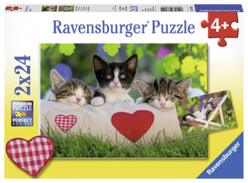 Sleepy Kitten Puzzles (Two 24-piece puzzles)
