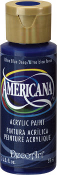 Americana Acrylic Paint 2 oz Ultra Blue Deep
