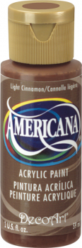 Americana Acrylic Paint 2 oz Light Cinnamon