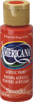 Americana Acrylic Paint 2 oz Brilliant Red