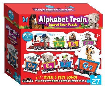 Alphabet Train Shaped Floor Puzzle