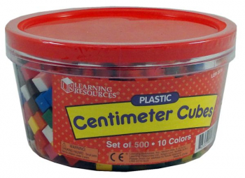 Weigh Too Centimeter / Gram Cubes - Set of 500 in 10 Colors