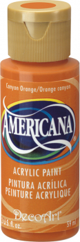 Americana Acrylic Paint 2 oz Canyon Orange