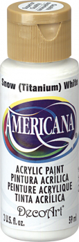 Americana Acrylic Paint 2 oz Snow White