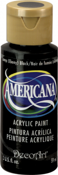 Americana Acrylic Paint 2 oz Ebony Black