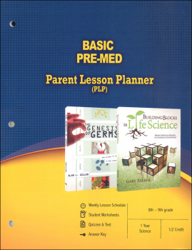 Basic Pre-Med Parent Lesson Planner