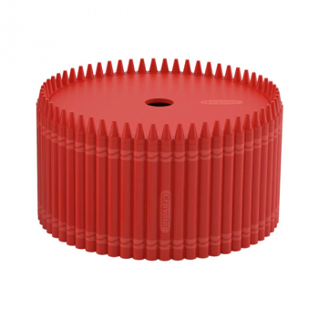 Crayola Round Storage Bin - Red