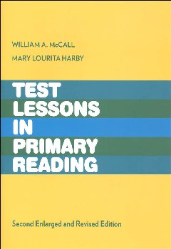 McCall/Dunigan Test Lessons in Primary Reading Lesson Booklet
