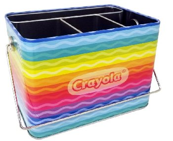 Crayola Desk Caddy Tin w/ Handle