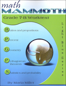 Math Mammoth Light Blue Series Grade 7-B Worktext (Colored Version)