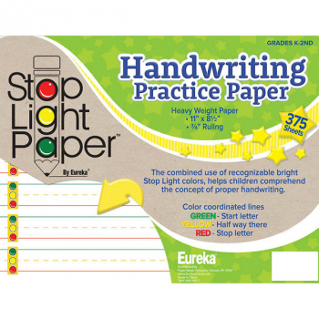 Stop Light Paper Handwriting Practice Paper - 375 Sheets