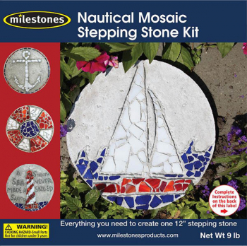 "Nautical Mosaic Stepping Stone Kit (12"")"