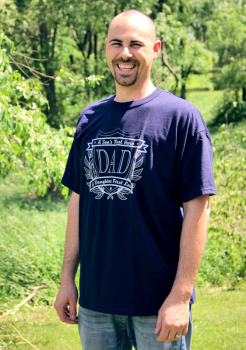 Dad T-Shirt Large (Navy with Silver Logo)
