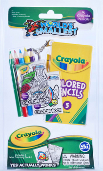 World's Smallest Crayola Color Pencils and Mini Coloring Book Set