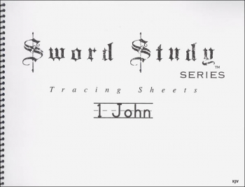 1 John Sword Study Tracing Sheet - King James Version