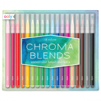 Chroma Blends Watercolor Brush Markers (set of 18)
