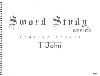 1 John Sword Study Tracing Sheet - New King James Version