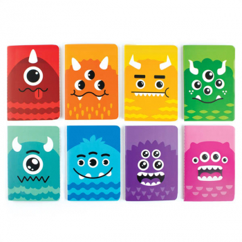 Mini Pocket Pal Journals - Monsters (Set/8)