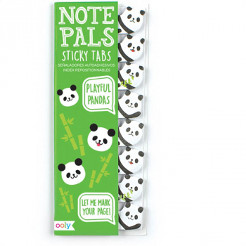 Note Pals Sticky Tabs - Playful Pandas