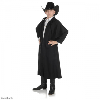 Black Wild West Duster Coat - Medium