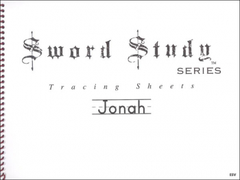 Jonah Sword Study Tracing Sheet - English Standard Version